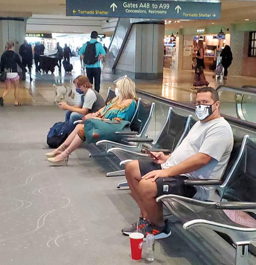 Mask at JFK