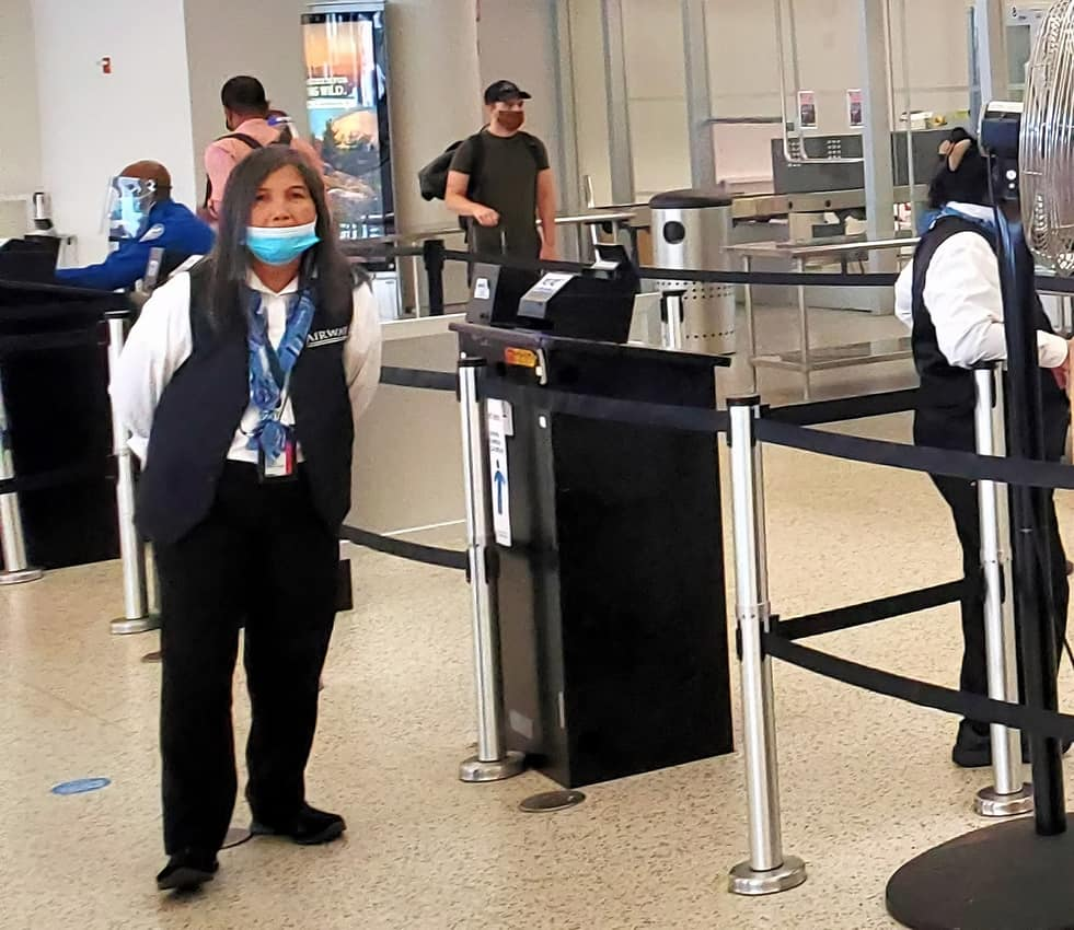 Supervision on Corvid protocols was lax at Terminal 5, JFK with mask down.