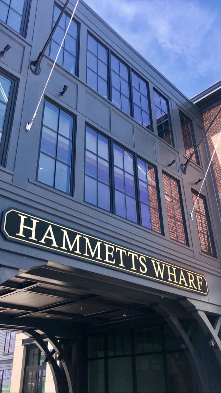 Hammett's Wharf is where the hotel is located, downtown Newport.