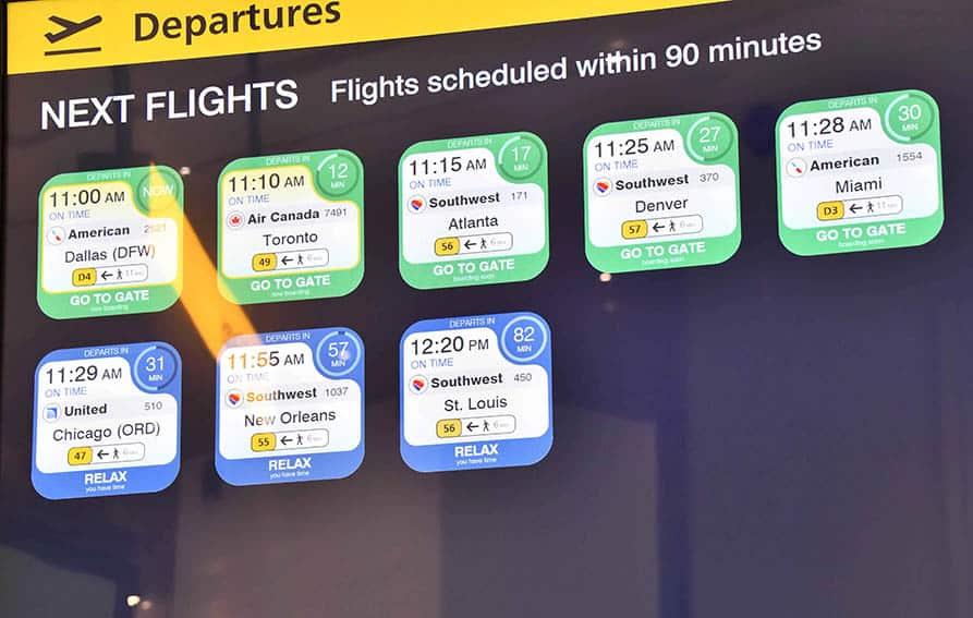 LGA Information Screens at LaGuardia airport New York