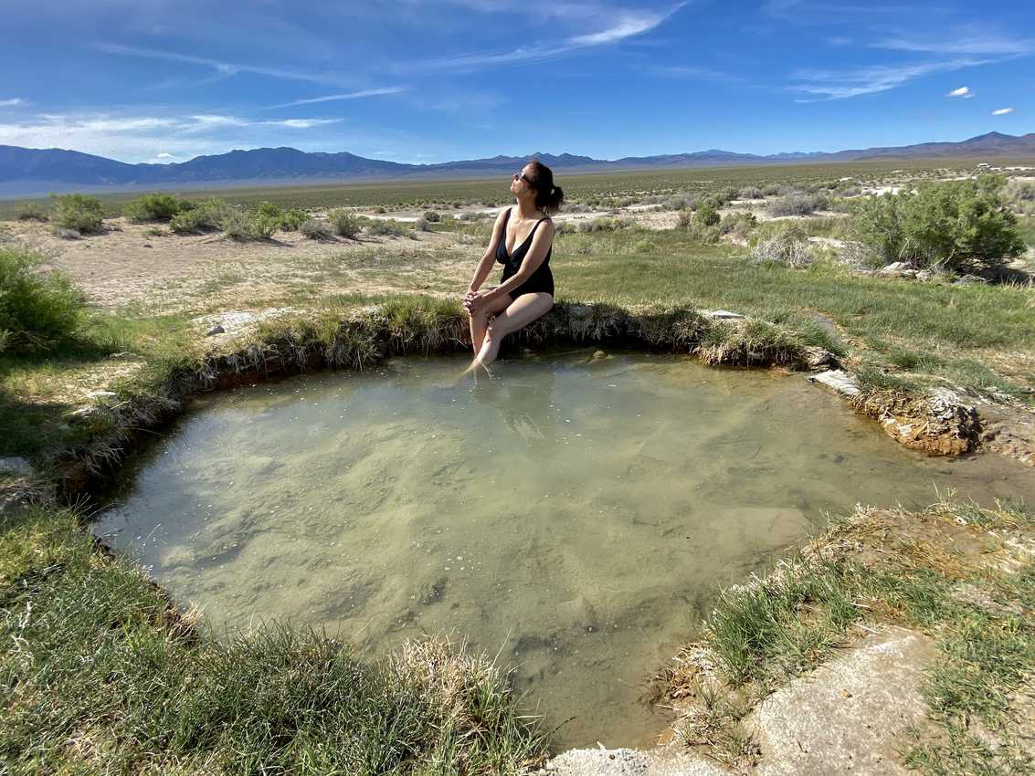 Pockmarked with steaming terrestrial kettles of volcanically heated liquid, Spencer Hot Springs provides bathers with muscle-soothing waters and eyeball-filling wraparound topography.