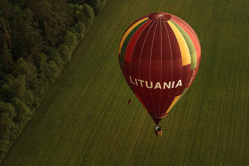 Lithuania hot air balloon