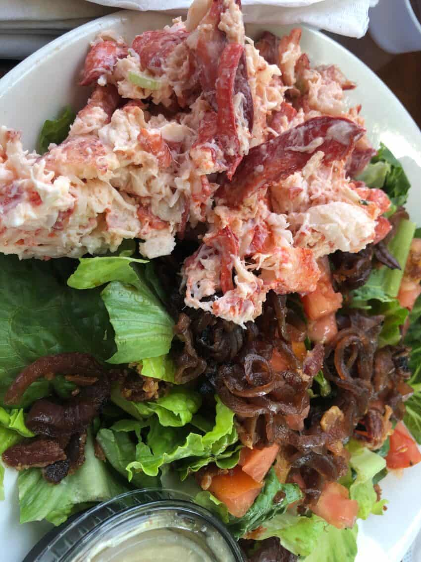 Lobster salad at the Smokehouse, Newport RI.