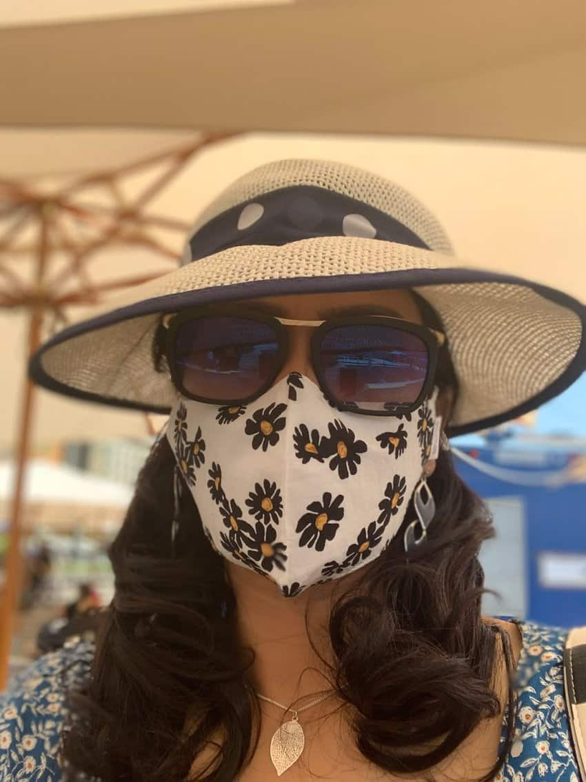 Masked up Tani Duta in Germany
