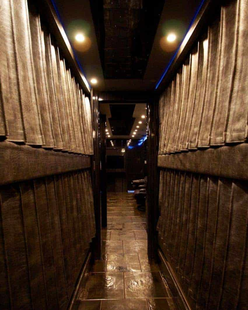 Twelve bunks for passengers to sleep in while the driver takes care of the driving on a Stormtrooper coach.