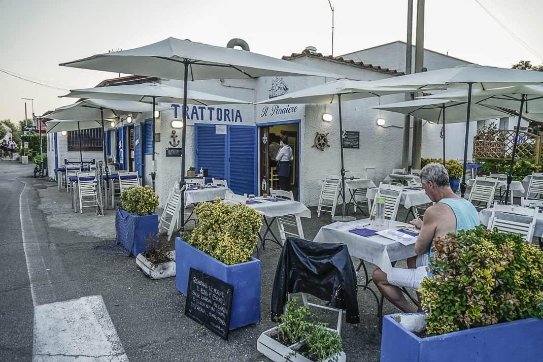 Fresh seafood delights at Trattoria il Pioniere in Fregene.