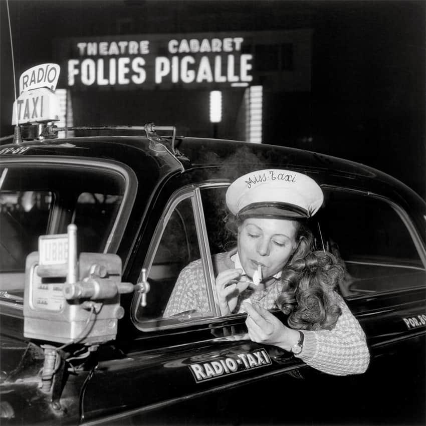 Taxi driver, Place Pigalle, Paris 1958