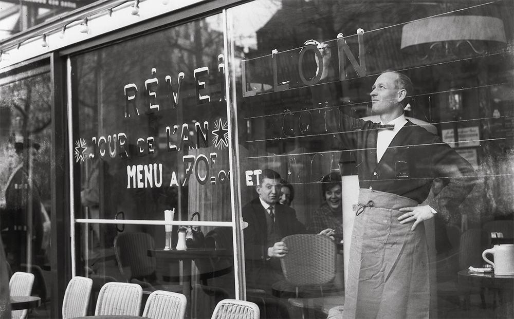 Café La Colisée, Champs-Élysées, 1956