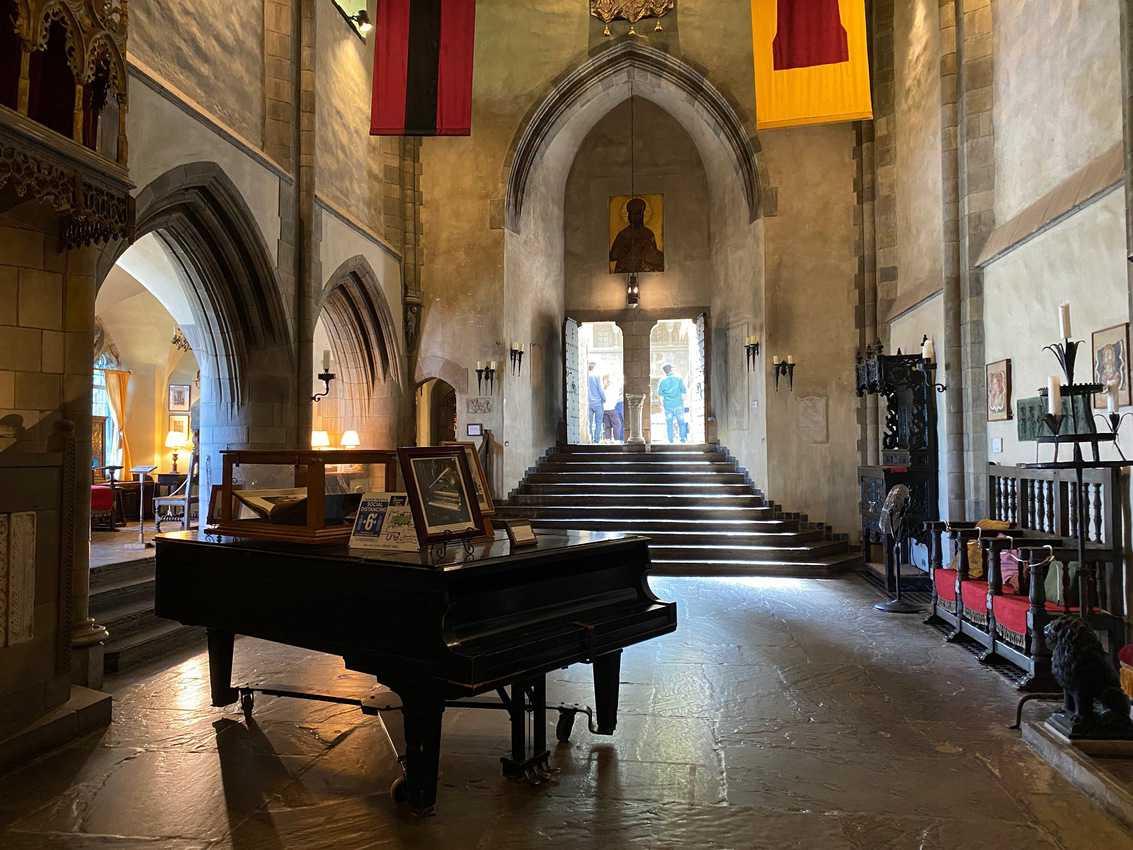 Inside the chapel inside Hammond's Castle in Gloucester.