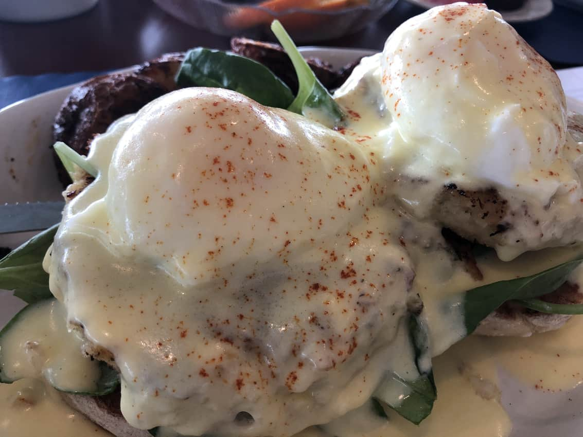 Eggs Benedict at Atlantis Oceanfront Inn
