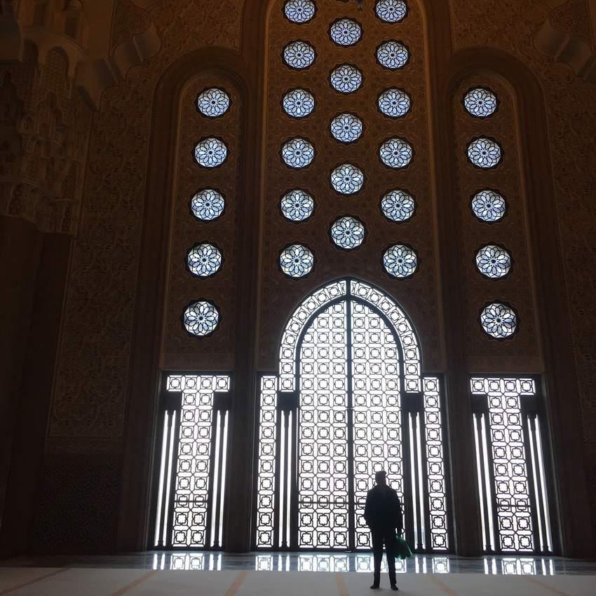 Mosque ocean window