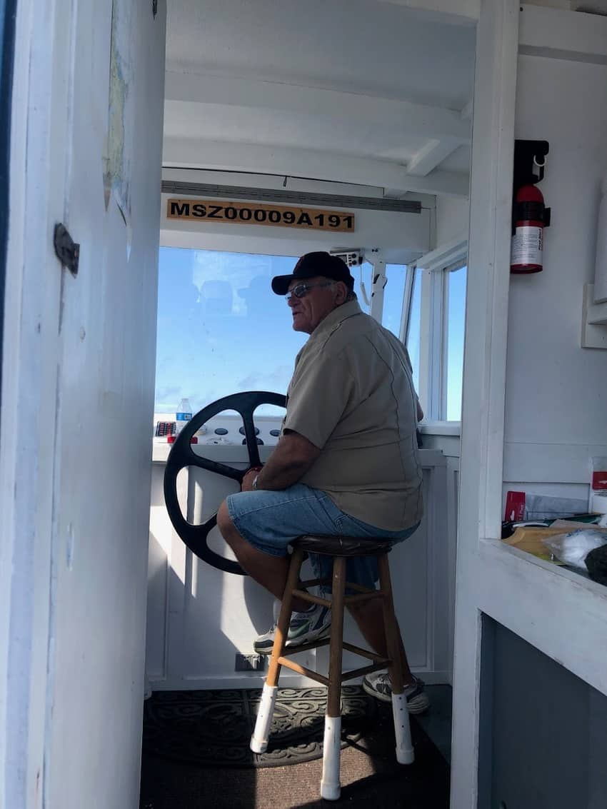 Sandy Bay Tours captain George Story