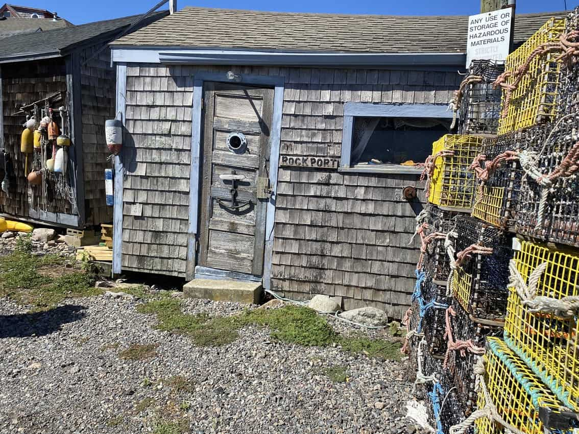 buoys and lobster pots