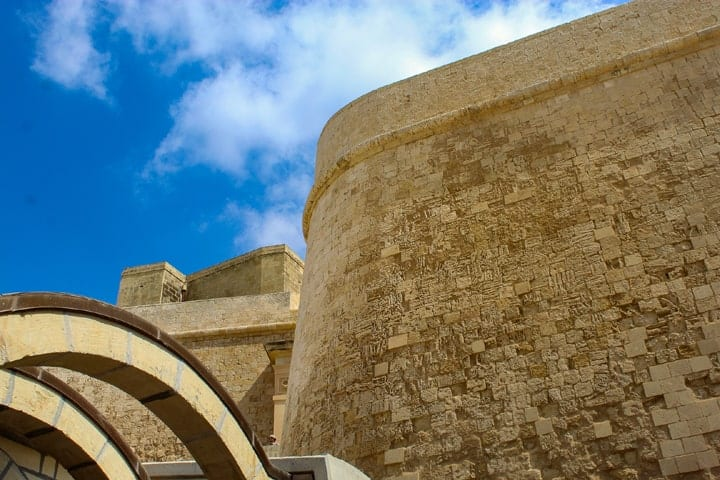 The walls of the Citidal in Victoria, Gozo.