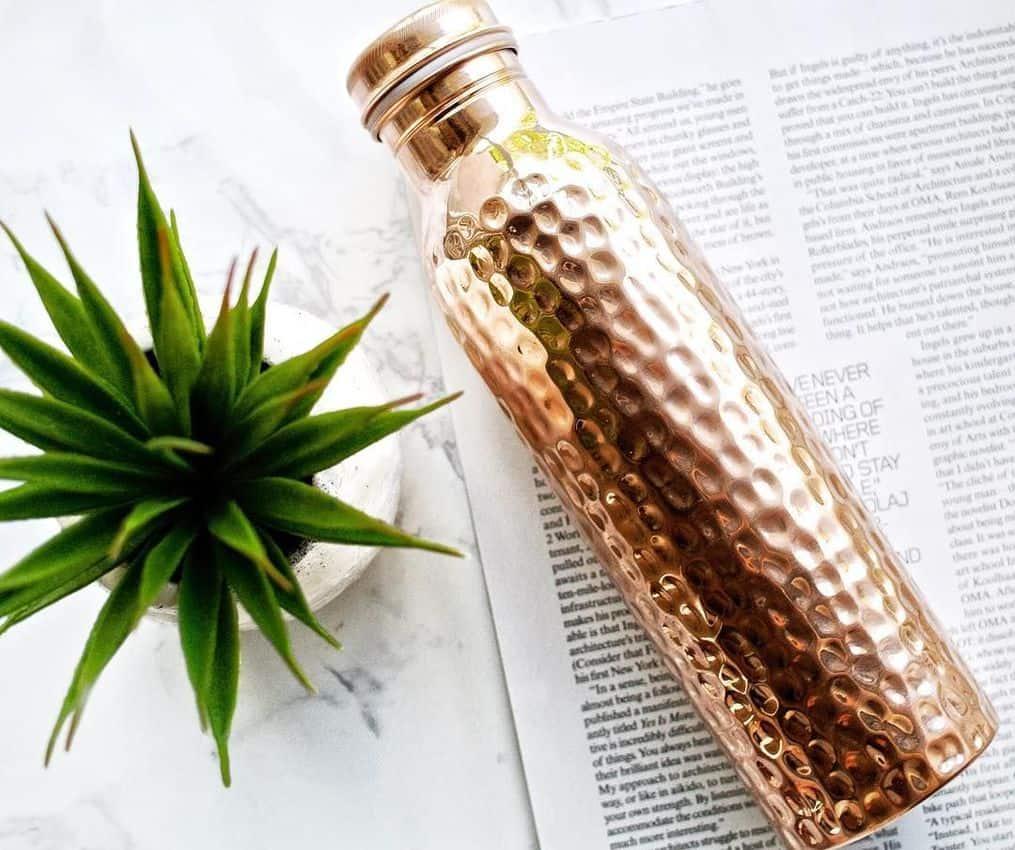 Copper h20 water bottle