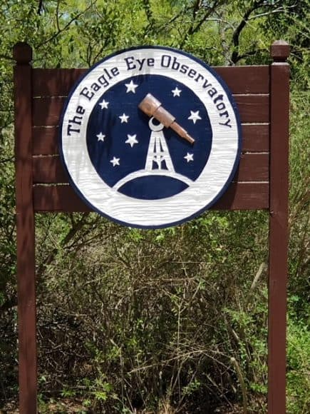 The Eagle Eye Observatory takes advantage of the area's dark skies to provide celestial viewings.