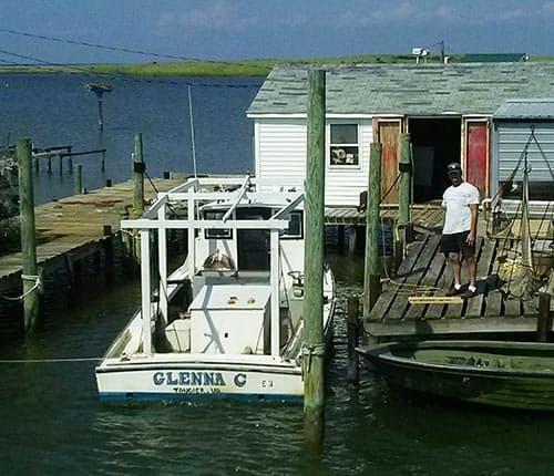 fishing shack on Tangier Island, Virginia.