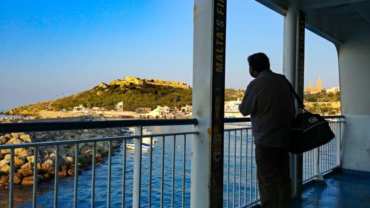 Gozo Ferry approaching Mgarr Harbor, Gozo