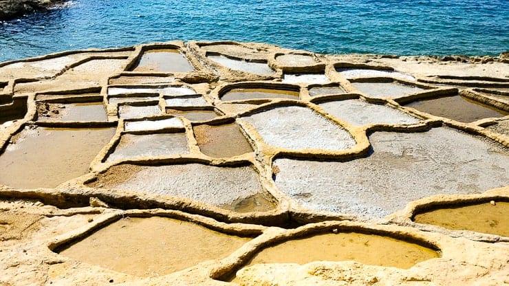 Gozo salt pans - a sea salt farm used for centuries.