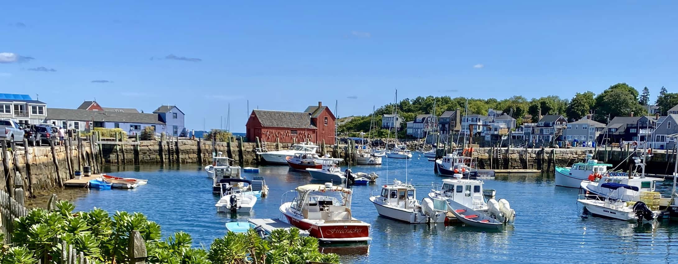 Rockport Harbor's centerpiece is the red fishing shack called Motif #1.