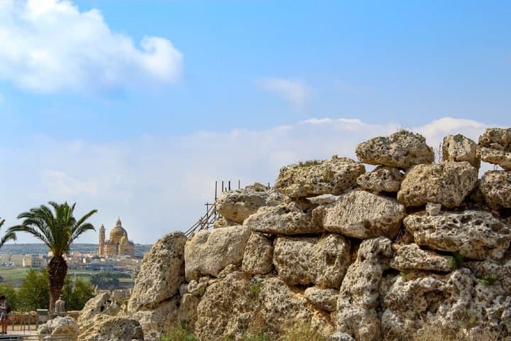 Xewkija, Gozo - From Ggantija megalithic temple. 5000 years of Man's belief.