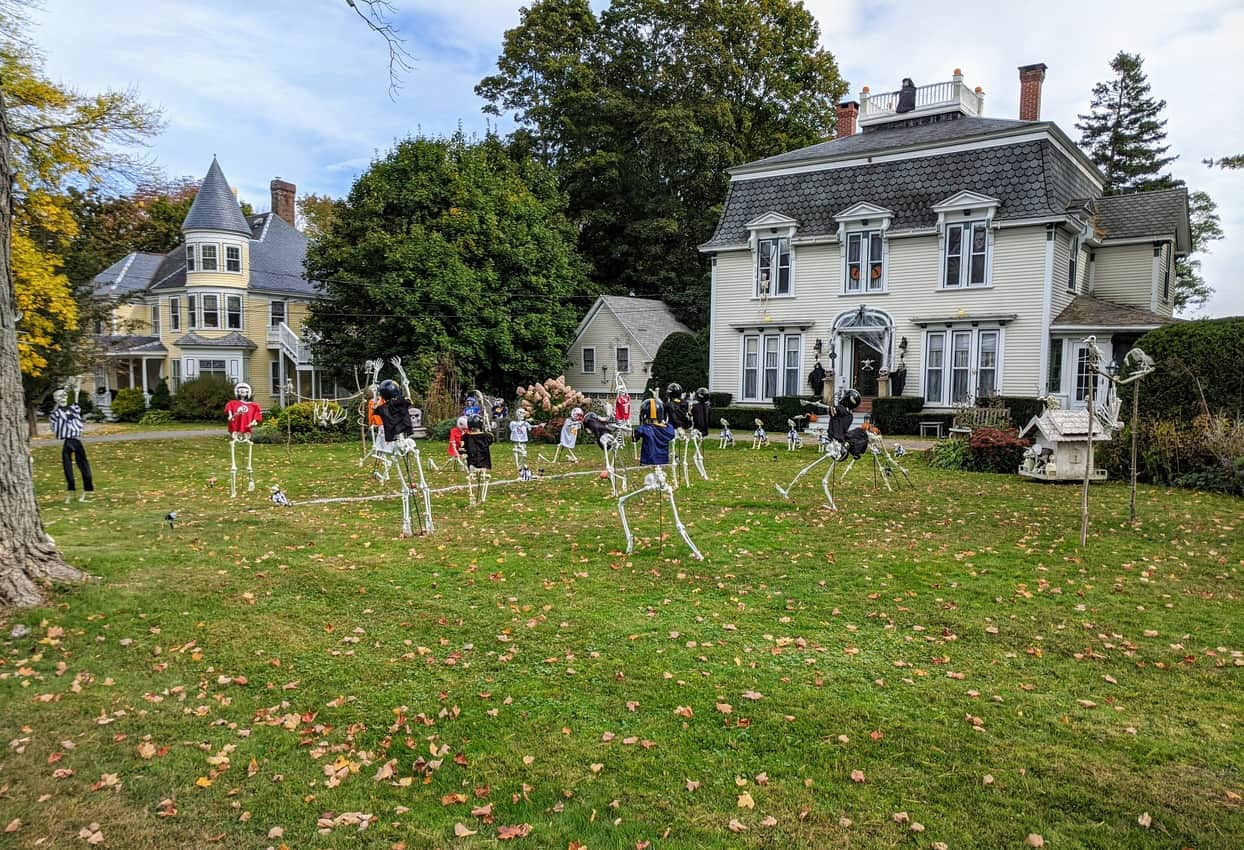 Camden Maine Halloween scene.