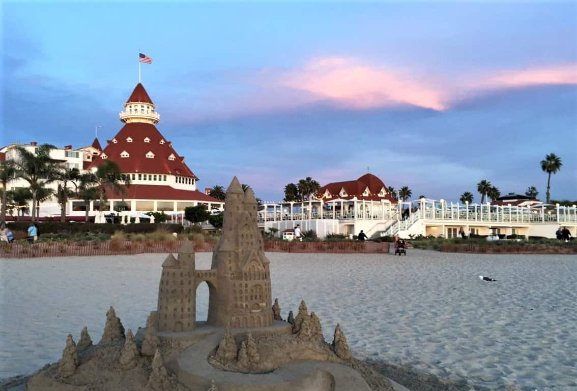 Hotel del Coronado on Coronado Beach