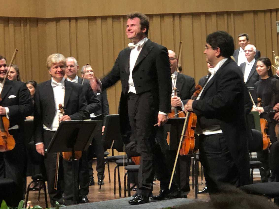 Jakub Hrusa conductor of the Bamberg Symphony from Germany in Changsha, Hunan China