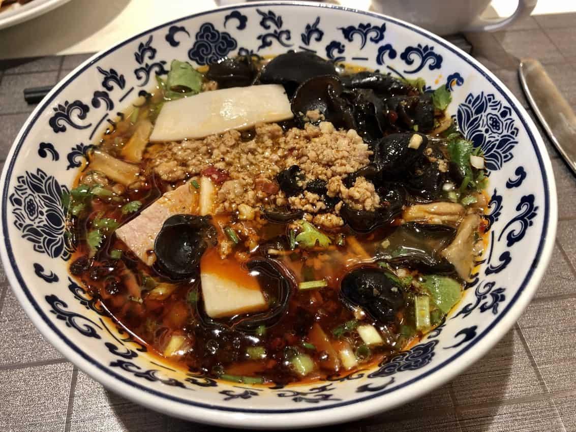 Breakfast noodles in Changsha.