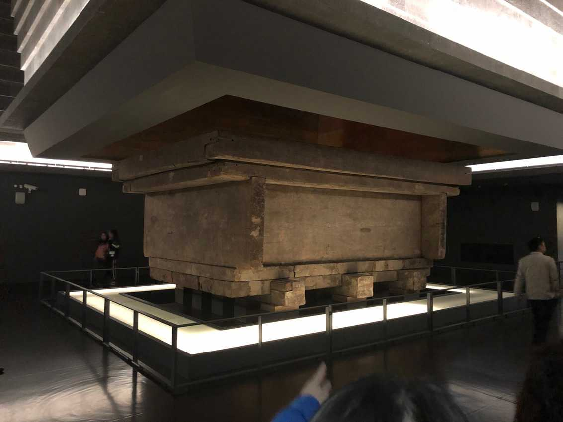 The tour starts at the top, showing the farm field where the 2000-year-old tomb was discovered, then goes down, down, down to the crypt where her body was found.