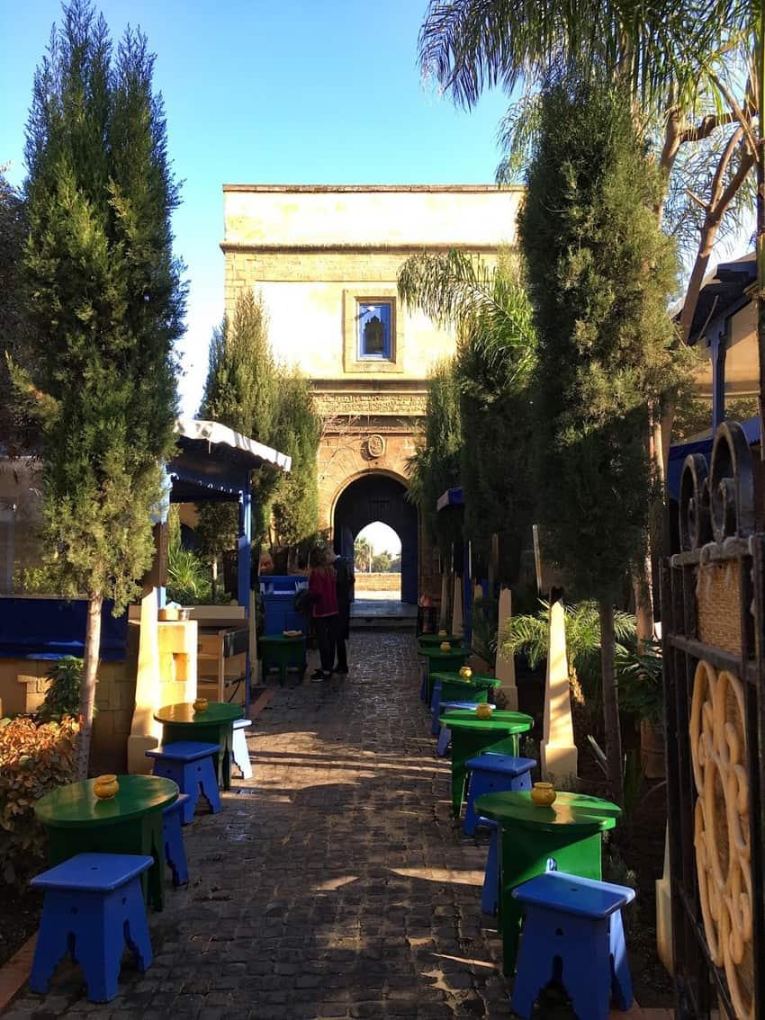 La Sqala Café Maure occupies a garden setting in Casablanca.