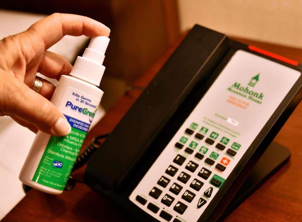 Sanitizing a phone