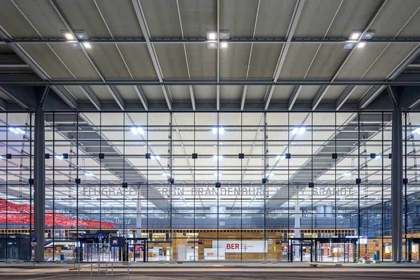 Berlin Brandenburg Airport opening in Berlin Germany October 31, 2020.
