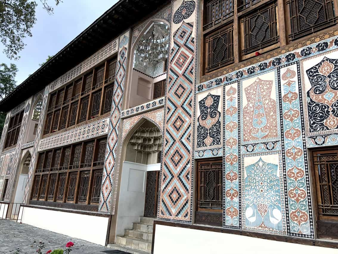Facade of Sheki Palace of the Khans