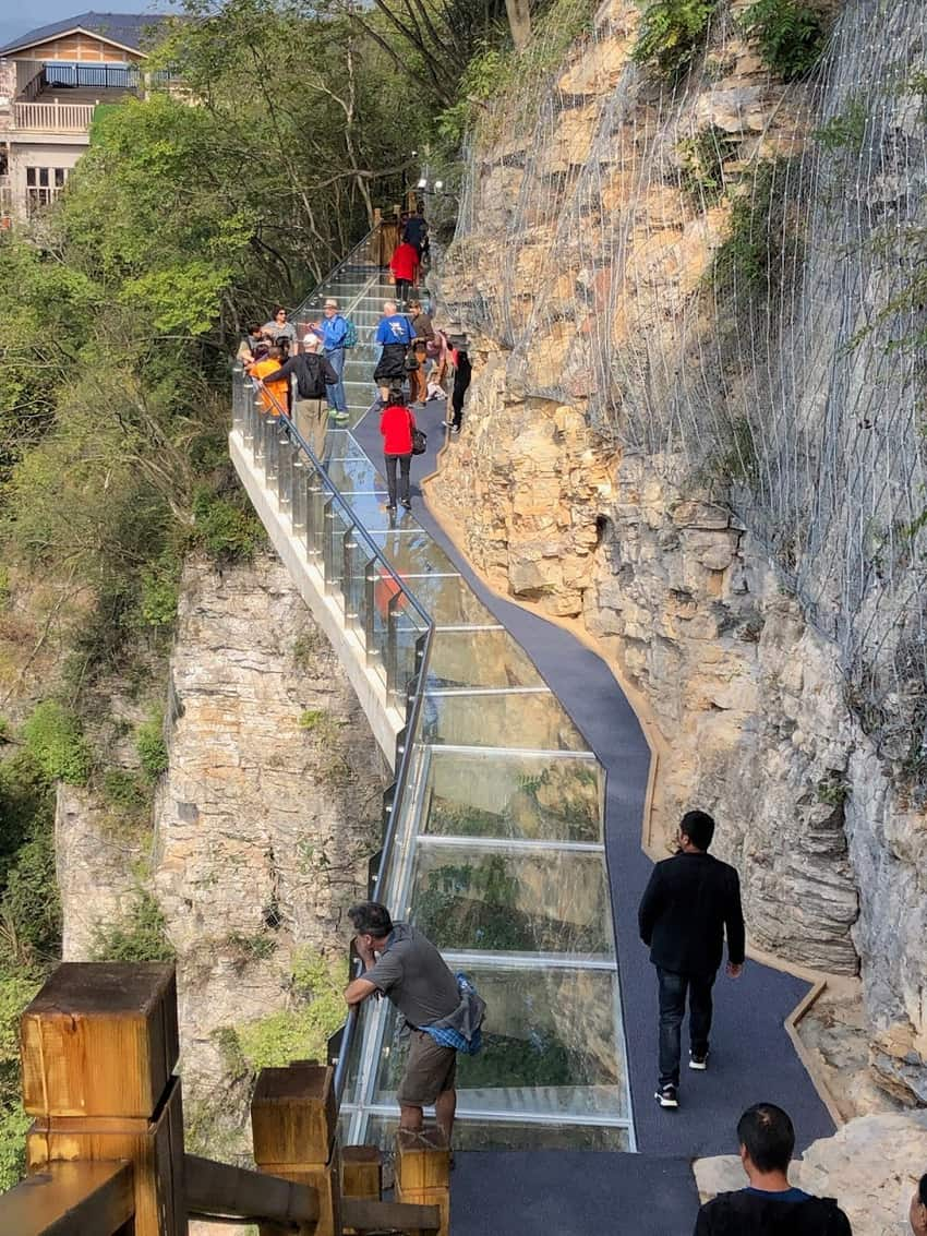 glass walkways with a 4500 foot drop 1