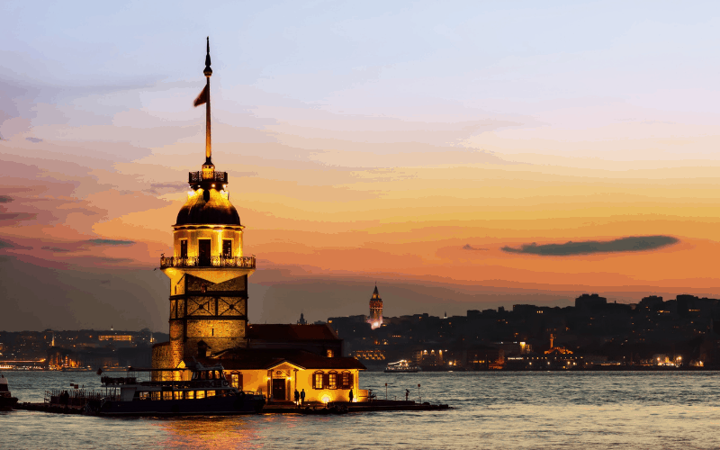 Maiden Tower, Istanbul.