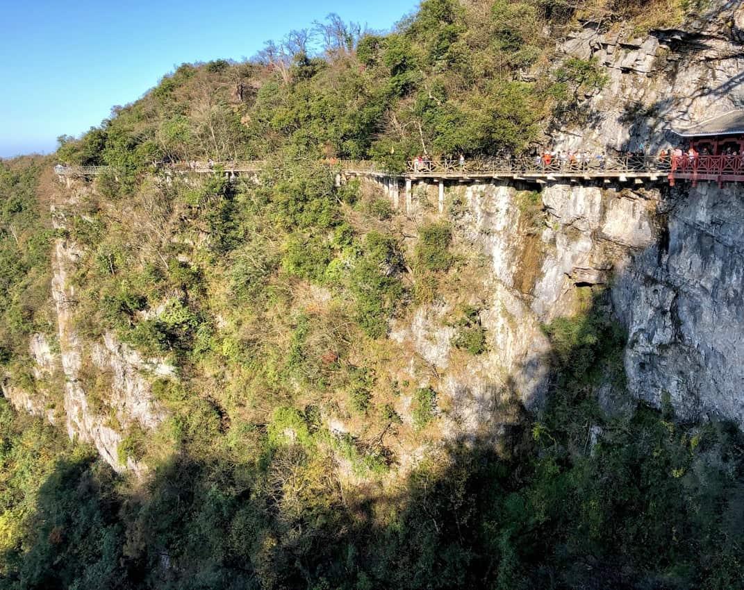 mountain walkways 4000 feet up 1