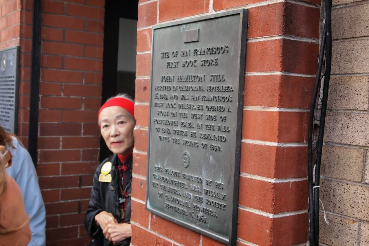Dorothy Quong explains some of Chinatown's history during the Wok Wiz Chinatown Tour.
