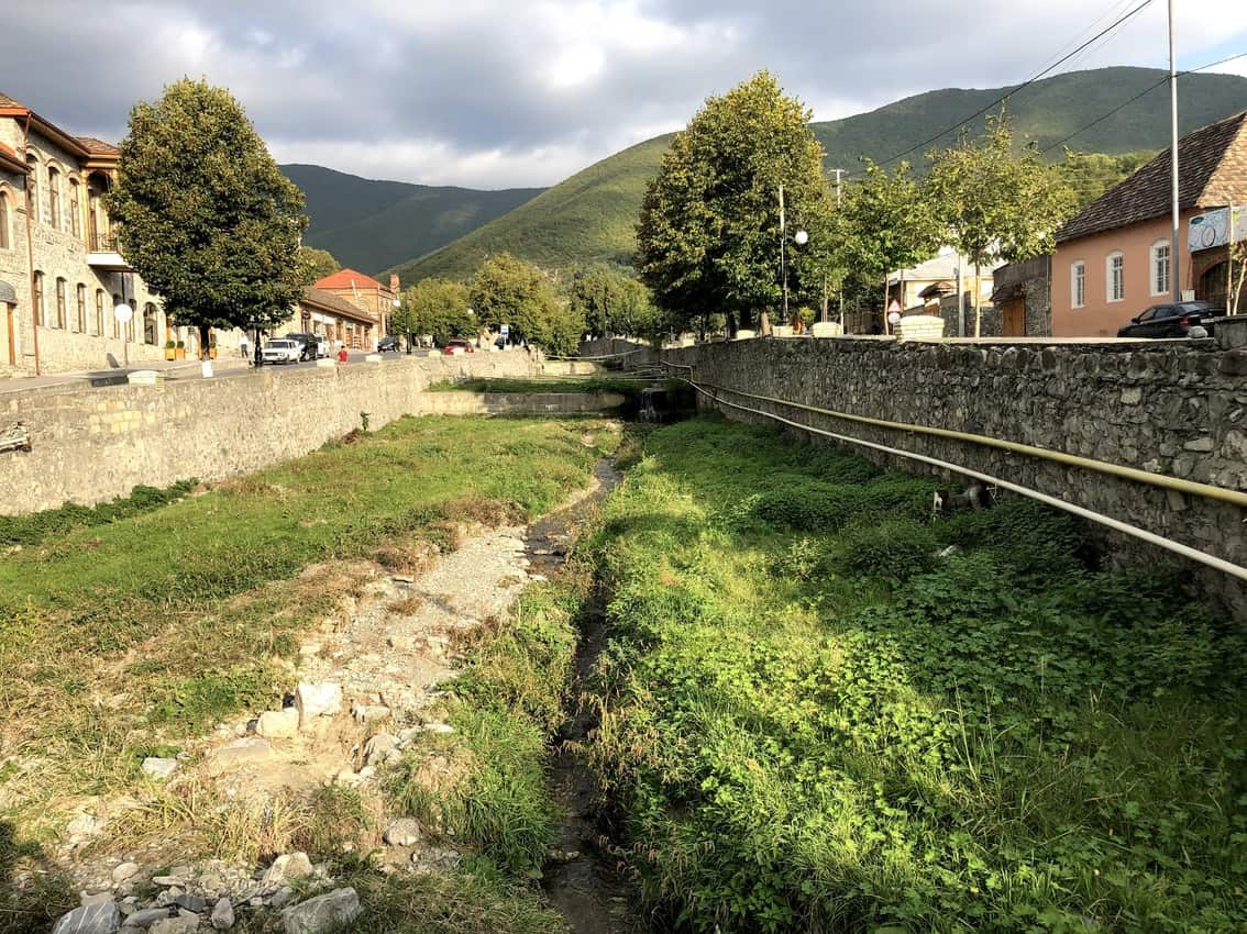 A serene river running through Sheki. Dry at the moment, Azerbaijan is experiencing a 7 year drought.