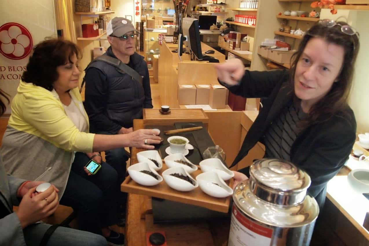 Tea Tasting at the Red Blossom Tea Company in Chinatown.