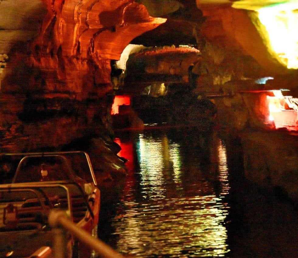 Boat ride in Howe Caverns