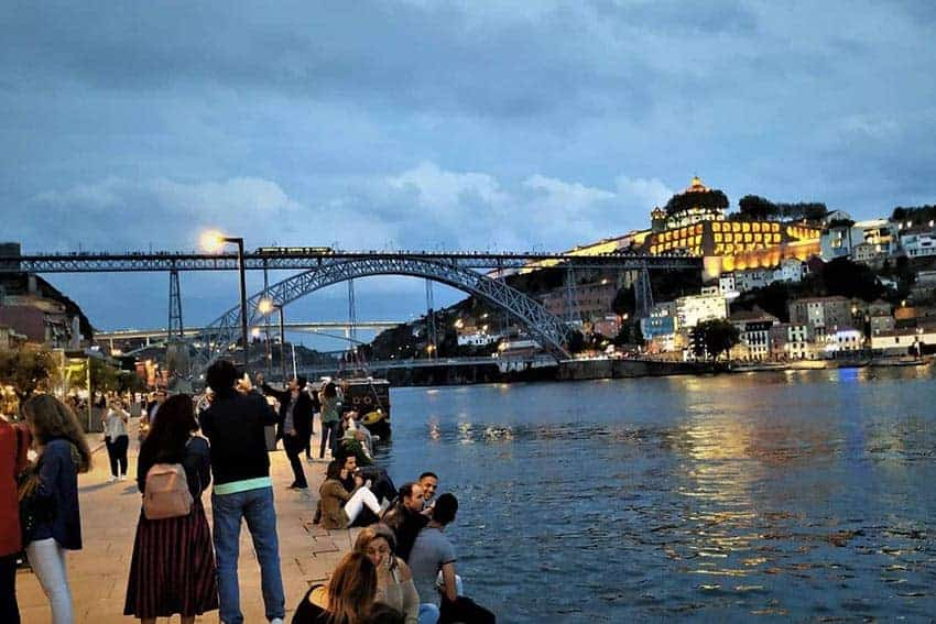 The Ribeira, by the Douro river in Porto. NR Venkatesh photo.