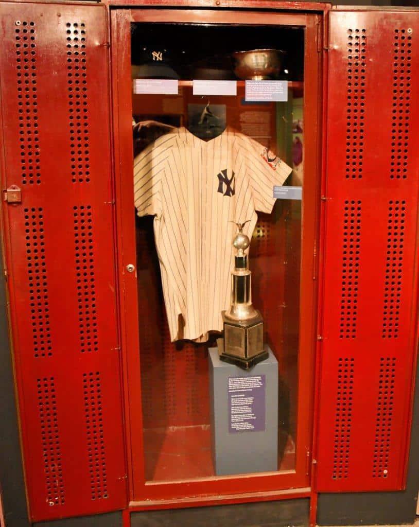 Cooperstown Lou Gerhrigs locker