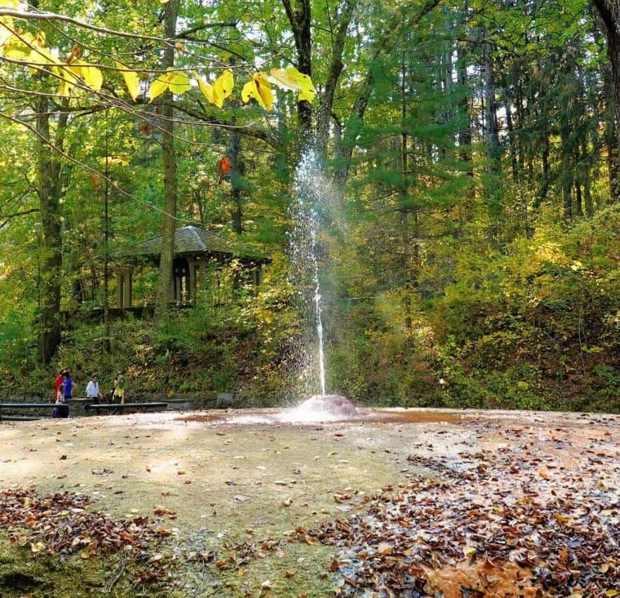 Saratoga Springs geyser