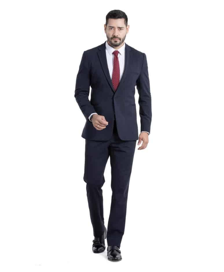 x suit corporate in navy