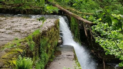 Sgwd Clun Gwyn waterfall in Wales.
