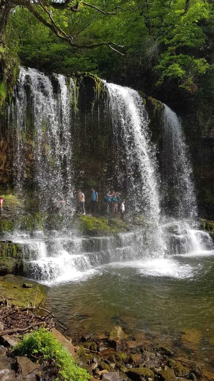 Sgwd Yr Eira waterfalls in Wales, UK.