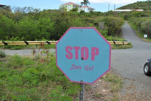 Stop sign on Water Island