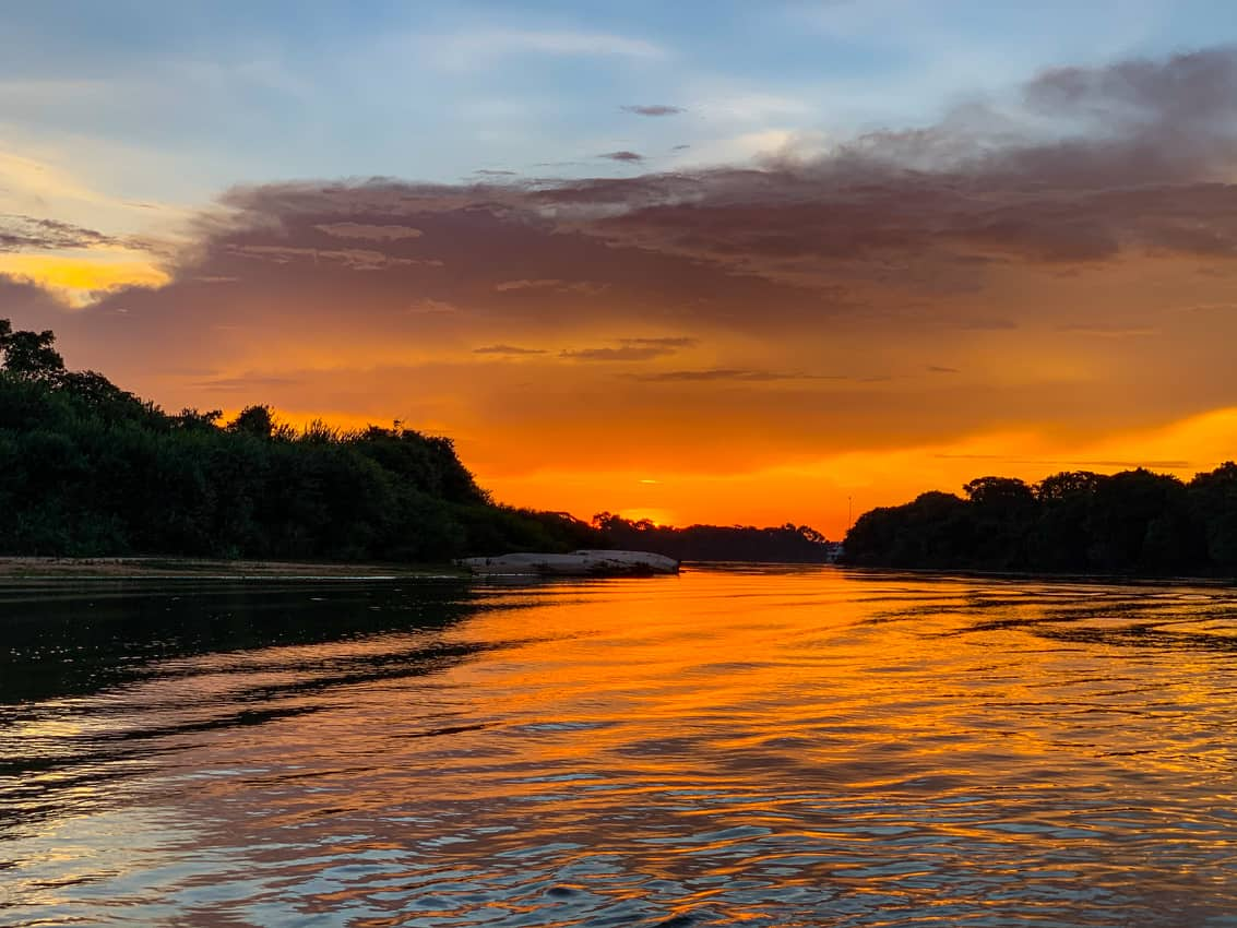 Sunset on Three Brothers River