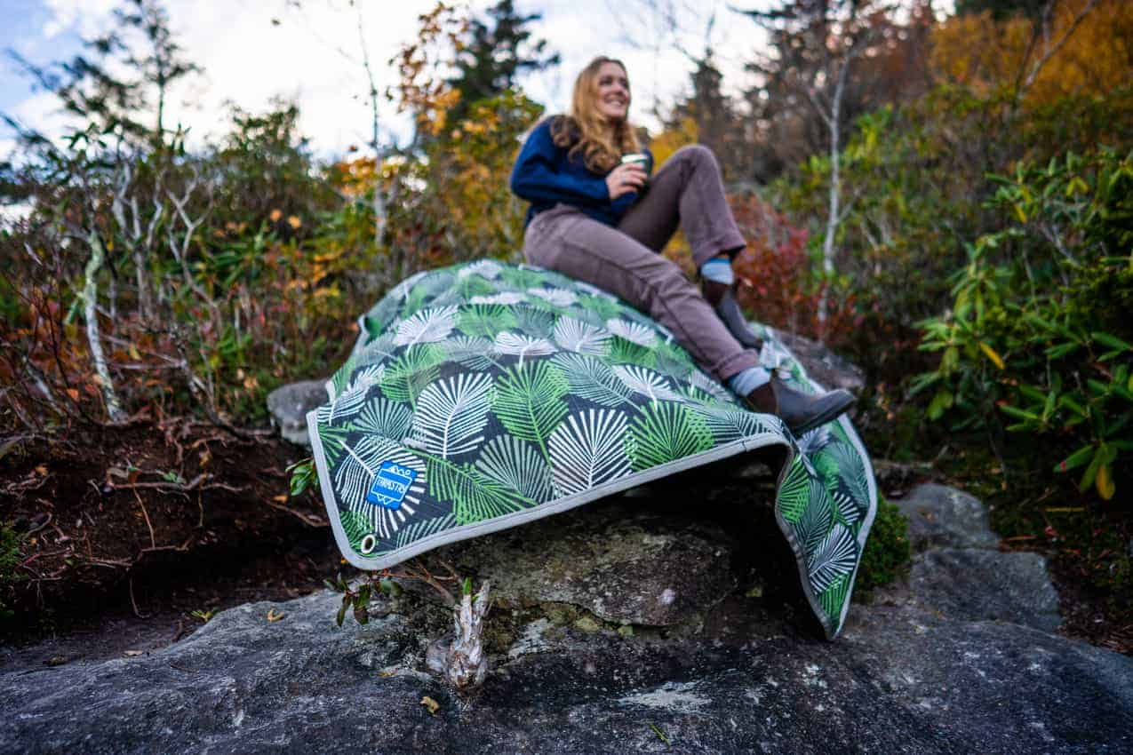 Tarp on the rock. This story features unusual gifts for the holidays.